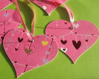 Be Mine - Pink Heart Gift Tags