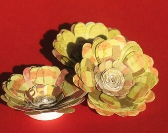 Autumn Aster - Paper Posy Magnets