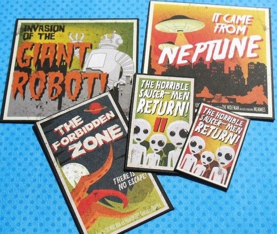 The Forbidden Zone - Movie Poster Magnet Set