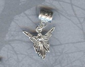 Silver Elegant Fairy Lrg Hole Bead Fits All European Add a Bead Charm Bracelet Jewelry Pnd-Fy06
