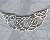Celtic Jewelry Component DRAMATIC Knotwork Centerpiece Station Sterling Silver