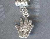 Reiki Spiral Healing Hand Lrg Hole Bead Fits All European Style Add a Bead Charm Bracelet Jewelry Pnd-S16