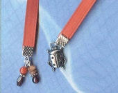 Ladybug Jeweled Silver Paperback Bookmark Red Ribbon BM-PwcAnm76