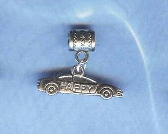 Silver Stock Car Lrg Hole Bead Fits All European Add a Bead Charm Bracelet Jewelry Pnd-G19