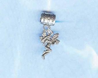 Silver FAIRY Lrg Hole Bead Fits All European Add a Bead Charm Bracelet Jewelry