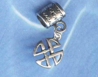 Sterling Silver Celtic Lrg Hole Bead Fits All European Style Add a Bead Charm Bracelet Jewelry Pnd-C64