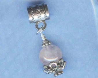Sterling Silver Fancy Rose Quartz Lrg Hole Bead Fits All European  Style  Add a Bead Charm Bracelet Jewelry Pnd-SSRQ010