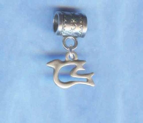 Sterling Silver Peace Dove Lrg Hole Bead Fits All European, Chamilia, Troll, Biagi, Perogatives Add a Bead Charm Bracelet Jewelry Pnd-PetDv