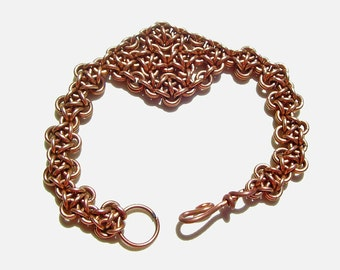 Bronze Diamond Weave Chainmaille Bracelet