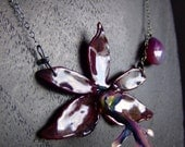 EXTREMELY RARE exotic PRESERVED purple ORCHID Necklace by BelaBrazilianDesigns