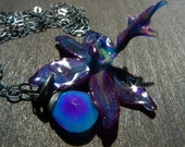 real preserved Exotic spider Orchid Necklace by BelaBrazilianDesigns