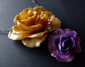 real preserved XXXLARGE multi ROSE BLOOM Necklace by BelaBrazilianDesigns