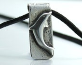 Handcrafted Bottlenose Dolphin Necklace Fine Silver