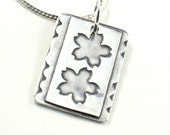 Silver Flowers Necklace Handcrafted in Fine Silver
