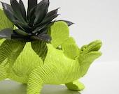 Lime Green Dinosaur Theme Birthday Favor or Gift Dimosaur Planter