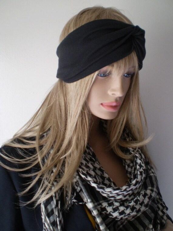 Black Turban Headband Head Wrap