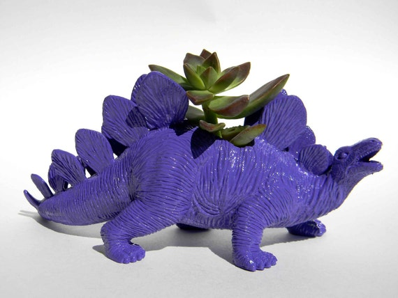 Dinosaur Theme Planter Royal Purple Great For By Crazycouture