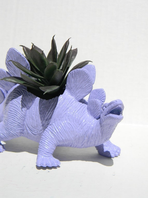 Dinosaur Planter Light Purple for Succulent Plants and Small Cacti