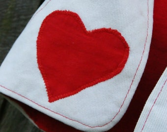 Little Vintage Heart Vest Hand Made Sweetness Size 6-12 plus months