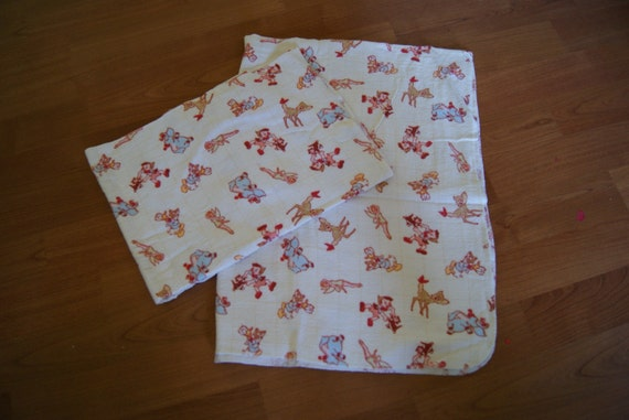 Vintage Swaddle Blankets Disney Donald Bambi Tinkerbell