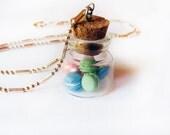 Mini Macaron Glass Jar Necklace