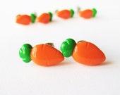 Cute Little Carrot Earrings Polymer Clay Jewelry