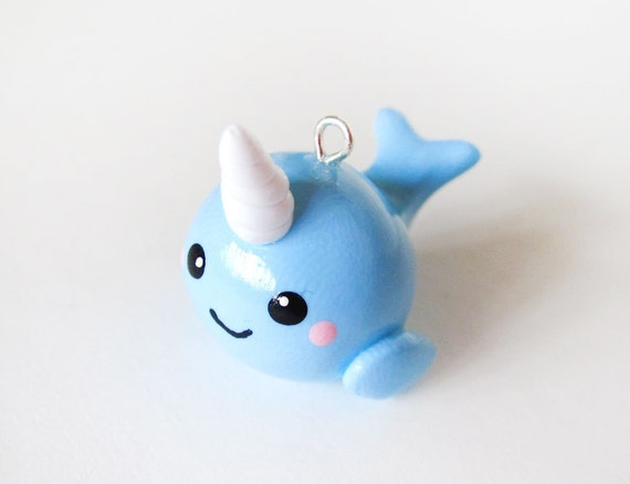 Cute Baby Blue Narwhal Charm