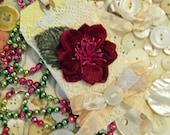 SALE SALE Handmade Vintage Shabby Christmas Gift Tag  Winter Wedding Tag Greeting Ornament