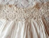 Antique Vintage Childs Baby Summer Dress Slip