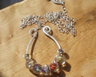 Lucky  Lampwork Artglass Sterling Pendant Necklace
