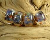 LBL Lampwork Glass Boro Beads (4) - Majesty