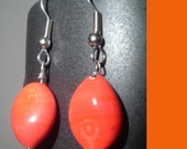 Vibrant Orange Earings