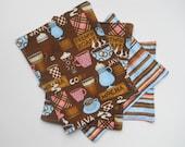 coffee lovers cloth napkins (set of 4)