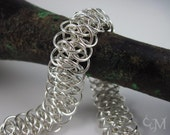 Viperscale Chainmaille Bracelet - Sterling Silver Metal Chainmail - Ready to Ship - Chain Maille - 10% loaned through Kiva.org