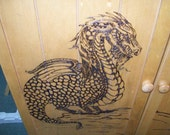 Pyrograchic Portrait 24 inch x 24 inch Made to Order Wood Burn Art by Pigatopia
