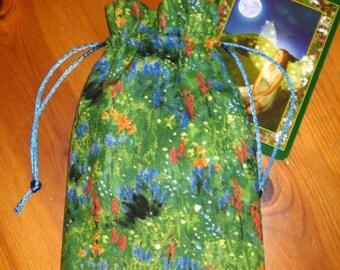 Summer Wildflowers Padded Tarot Bag