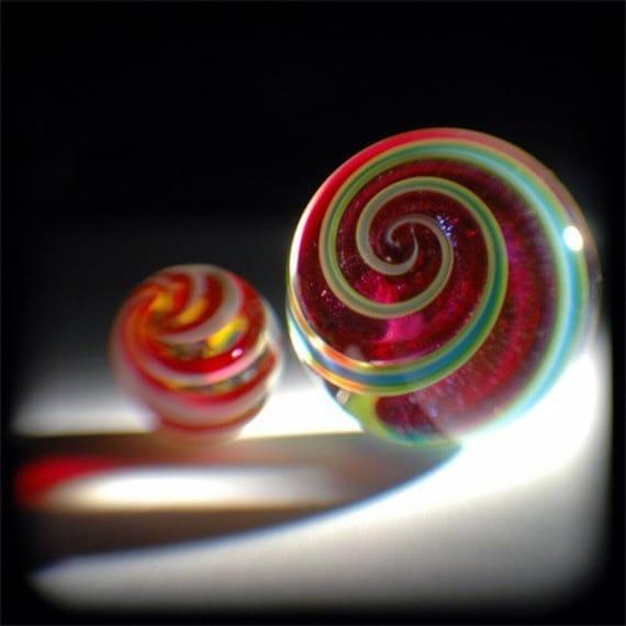 Glass Marbles, Photograph, Metallic Paper, 8x8