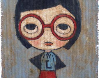 Lonely Girl Hero - print