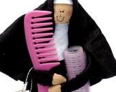 Nun doll Catholic gift hairstylist- 'Sister Curlotta'