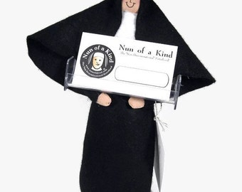 Funny Nun doll sister doll  Catholic gift business card holder