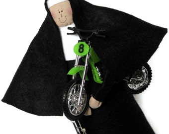 Nun doll Catholic gift sister motor cycle enthusiast-Sister Rhoda Harley