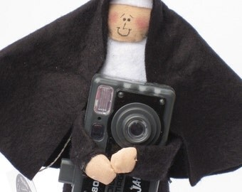 Nun Doll Catholic Gift  Sister Filmore---the photographer
