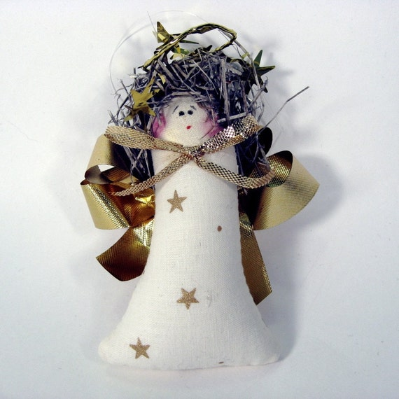 Angel Christmas Ornament package topper for Charity (set of four)