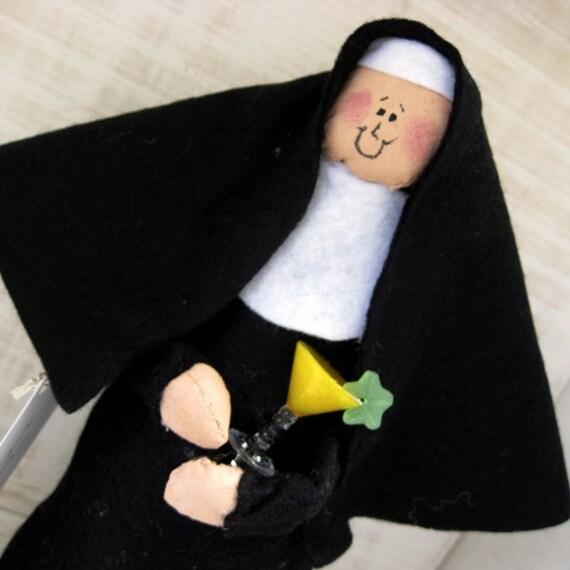 "Nun doll religious Catholic humor keepsake gift ""Sister Anita Martini"""
