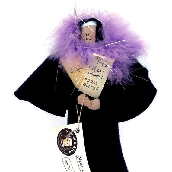 Nun doll Catholic gift -Sister Holly Wood--the actress
