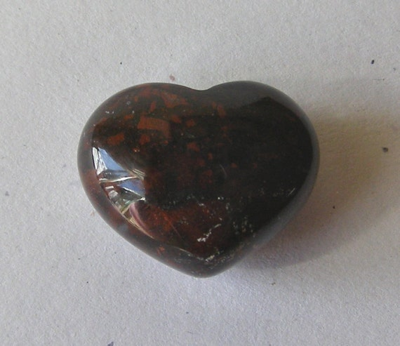Brecciated Jasper 24x30 Carved Wrapping/Pocket Undrilled Heart