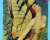 Art deco fairy with butterfly wings