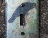 Vintage Crow Light Switch Plate