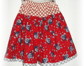 Skull Pirate Rocker Twirl Skirt Size 5/6