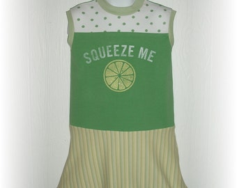 Upcycled Repurposed Squeeze Me Dress Size 3-4